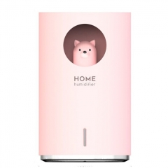 900ml Large Capacity Air Humidifier Night Light USB Charging for Home Office Air Purifier Mist Diffuser - Pink