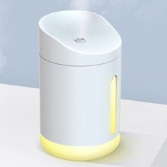 340ml Capacity Air Humidifier Night Light USB Charging for Home Office Air Purifier Mist Diffuser - White