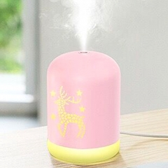 340ml Capacity Air Humidifier Night Light USB Charging for Home Office Air Purifier Mist Diffuser - Pink