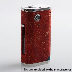 Authentic Asmodus Pumper-18 Squonk Stablized Wood 18650 Mechanical Box Mod 8ml - Red