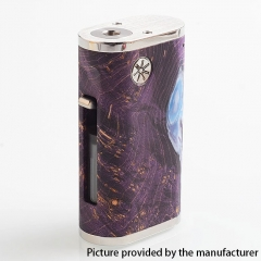 Authentic Asmodus Pumper-18 Squonk Stablized Wood 18650 Mechanical Box Mod 8ml - Purple