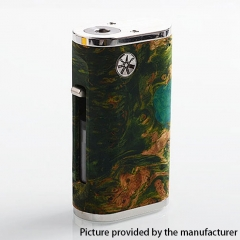 Authentic Asmodus Pumper-18 Squonk Stablized Wood 18650 Mechanical Box Mod 8ml - Green