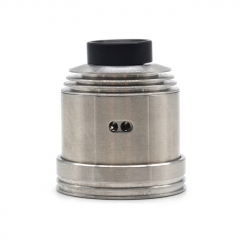 (Ships from Germany)ULTON Hussar II Style 316SS 22mm RDA w/BF Pin/24mm Beauty Ring - Silver