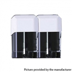 Authentic Vapelustion Hannya Nano Pod System Vape Kit Replacement Cartridge w/ 1.2ohm Coil 2ml (2pcs) - White