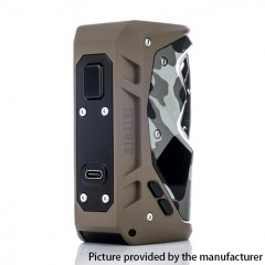 Authentic Sigelei Humvee 215W TC VW Variable Wattage Box Vape Mod - Camouflage Khaki