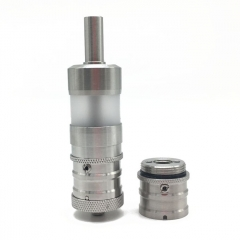 (Ships from Germany)ULTON FEV V4.5 Style RTA Rebuildable Atomizer Single and Dual Airflows - Silver