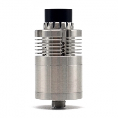 (Ships from Germany)YFTK In'Ax V5 Style 22mm 316SS DL RTA Rebuildable Tank Vape Atomizer 3ml - Silver