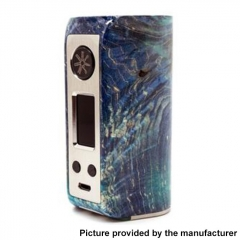 Authentic Asmodus Minikin Kodama 21700 180W Stablized Wood Resin TC VW Box Vape Mod - Blue