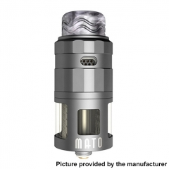 Authentic Vandy Vape Mato 24mm RDTA Rebuildable Dripping Tank Atomizer w/ BF Pin 5ml - Frosted Gray