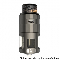 Authentic Vandy Vape Mato 24mm RDTA Rebuildable Dripping Tank Atomizer w/ BF Pin 5ml - Gun Metal