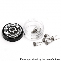 Coil Father Premium Prebuilt Twisted Coil for RBA/RDA/RTA/RDTA Atomizer 6 Wraps 28GA x 2 + 32GA(10pcs) - 0.45ohm