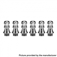 Authentic KIZOKU Chess Series 21.1mm Replacement 510 Drip Tip for RDA / RTA/ RDTA / Sub-Ohm Tank Atomizer 6pcs - Silver Queen