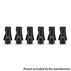 Authentic KIZOKU Chess Series 21.1mm Replacement 510 Drip Tip for RDA / RTA/ RDTA / Sub-Ohm Tank Atomizer 6pcs - Black Knight