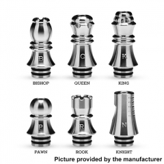 Authentic KIZOKU Chess Series 21.1mm Replacement 510 Drip Tip for RDA / RTA/ RDTA / Sub-Ohm Tank Atomizer 6pcs - Mixed