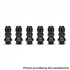 Authentic KIZOKU Chess Series 21.1mm Replacement 510 Drip Tip for RDA / RTA/ RDTA / Sub-Ohm Tank Atomizer 6pcs - Black Bishop
