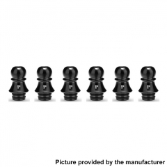 Authentic KIZOKU Chess Series 21.1mm Replacement 510 Drip Tip for RDA / RTA/ RDTA / Sub-Ohm Tank Atomizer 6pcs - Black Pawn