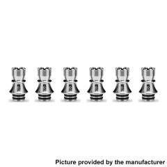 Authentic KIZOKU Chess Series 21.1mm Replacement 510 Drip Tip for RDA / RTA/ RDTA / Sub-Ohm Tank Atomizer 6pcs - Silver Rook