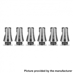 Authentic KIZOKU Chess Series 21.1mm Replacement 510 Drip Tip for RDA / RTA/ RDTA / Sub-Ohm Tank Atomizer 6pcs - Silver Knight