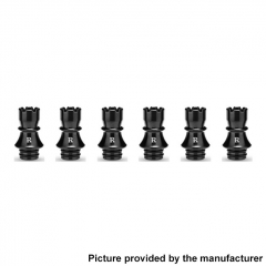 Authentic KIZOKU Chess Series 21.1mm Replacement 510 Drip Tip for RDA / RTA/ RDTA / Sub-Ohm Tank Atomizer 6pcs - Black Rook