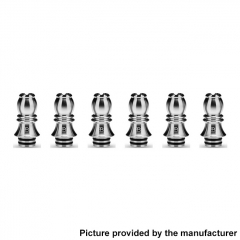 Authentic KIZOKU Chess Series 21.1mm Replacement 510 Drip Tip for RDA / RTA/ RDTA / Sub-Ohm Tank Atomizer 6pcs - Silver Bishop