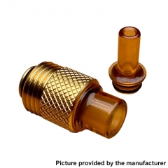 Across Intan Grip Style Base + MTL / DL Drip Tip Kit for SXK BB / Billet Box Vape Mod Kit - Gold Brown