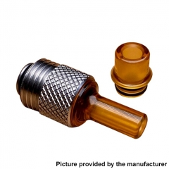 Across Intan Grip Style Base + MTL / DL Drip Tip Kit for SXK BB / Billet Box Vape Mod Kit - Silver Brown