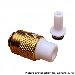 Across Intan Grip Style Base + MTL / DL Drip Tip Kit for SXK BB / Billet Box Vape Mod Kit - Gold White