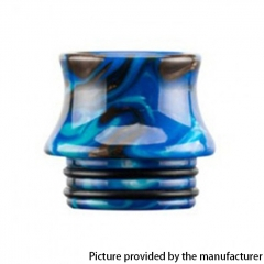Authentic Reewape Resin Replacement 810 Drip Tip for SMOK TFV8 / TFV12 Tank / Kennedy / Battle / Reload RDA - Blue AS300