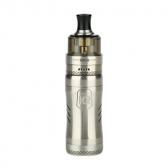 Authentic KIZOKU Kirin Semi-Mech 18350/18650 Mechanical Tube Vape Mod 24mm + Disposable Tank Kit - SS Brushed
