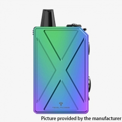 Authentic Teslacigs Invader GT 50W 1200mAh VW Box Mod Pod System Vape Starter Kit 3ml - Rainbow