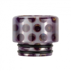 Authentic Reewape Resin Replacement 810 Drip Tip for SMOK TFV8 / TFV12 Tank / Kennedy / Battle / Reload RDA - Purple AS306 1pc