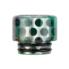 Authentic Reewape Resin Replacement 810 Drip Tip for SMOK TFV8 / TFV12 Tank / Kennedy / Battle / Reload RDA - Green AS306 1pc