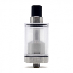 Authentic Auguse V1.5 22mm MTL RTA Rebuildable Tank Vape Atomizer w/ 5 Airflow Inserts 4ml - Silver