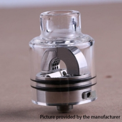 (Ships from Germany)Authentic Hugsvape Ring Lord 27mm RDA Rebuildable Dripping Atomizer w/ BF Pin - Silver