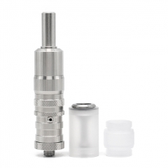 ULTON Fev vS Style 316SS RTA Rebuildable Tank Mouth to Lung Atomizer 17mm w/Bell Cap(Improved) - Silver
