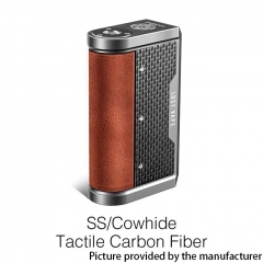 Authentic Lost Vape Centaurus DNA 250C 200W TC VW Box Vape Mod - SS/ Cowhide Tactile Carbon Fiber