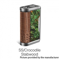 Authentic Lost Vape Centaurus DNA 250C 200W TC VW Box Vape Mod - SS/ Crocodile Stabwood