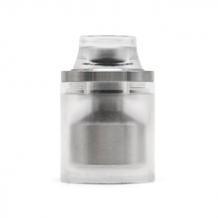 Replacement Top Cap Tank Tube Nano Kit w/ Drip Tip for Taifun Typhoon GT4S GT 4S IV S Style RTA 2.9ml  - Silver + White