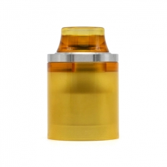 Replacement Top Cap Tank Tube Nano Kit w/ Drip Tip for Taifun Typhoon GT4S GT 4S IV S Style RTA 2.9ml - Silver + Brown