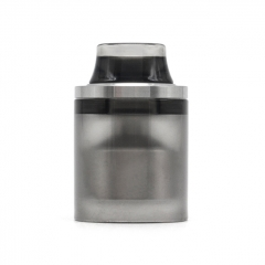 Replacement Top Cap Tank Tube Nano Kit w/ Drip Tip for Taifun Typhoon GT4S GT 4S IV S Style RTA 2.9ml - Silver + Black