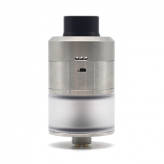 Kindbright Reborn Style 316SS 22mm RDTA Rebuildable Drippting Tank Atomizer w/BF Pin - Silver