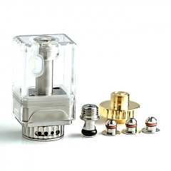 (Ships from Germany)ULTON DOTSHELL Style Rebuildable Tank w/ Extra DOTSHELL/VAPESHELL MTL Pins for DOTAIO Mod - Silver