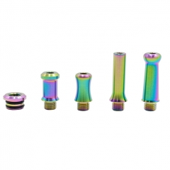 Rubyvape 510 SS 4-in-1 MTL Replacement Drip Tip - Rainbow