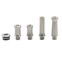Rubyvape 510 SS 4-in-1 MTL Replacement Drip Tip - Silver