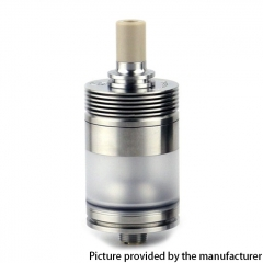 Authentic BP Mods Pioneer MTL / DL 22mm RTA Rebuildable Tank Vape Atomizer 3.7ml - Silver