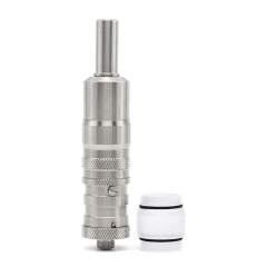 (Ships from Germany)ULTON Fev vS Style 316SS RTA Rebuildable Tank Mouth to Lung Atomizer 17mm - Silver