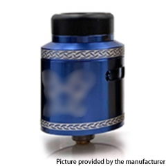 Dead Rabbit Style V2 24mm RDA Rebuildable Dripping Atomzier w/ BF Pin - Blue