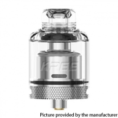 Authentic GAS Mods Kree 24mm RTA w/ 4 Airflow Inserts 5.5ml - Silver