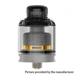 Authentic GAS Mods Kree 24mm RTA w/ 4 Airflow Inserts 5.5ml - Gray