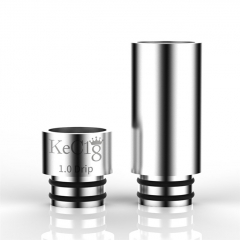 Reewape Replacement SS 2-in-1 510 Drip Tip 8.5mm - Silver